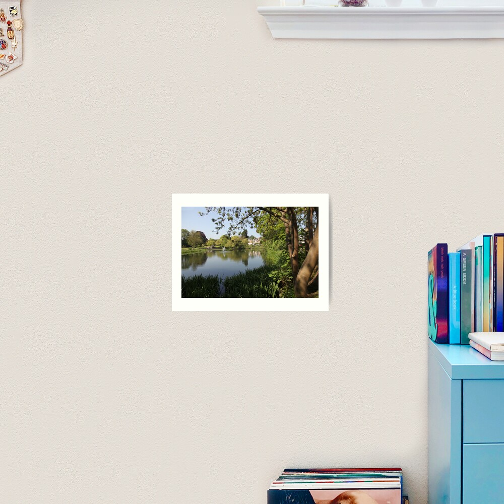 Bletchley Park Lakeview Art Print