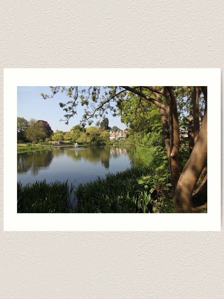 Alternate view of Bletchley Park Lakeview Art Print
