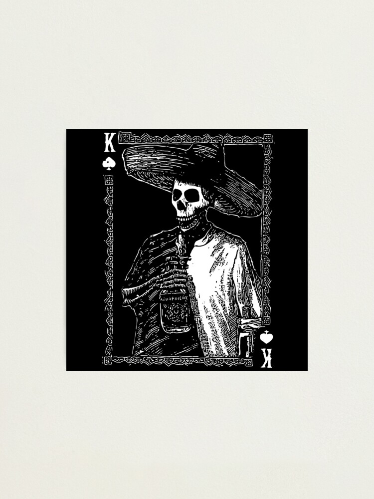 Alternate view of Day of the Dead - King of Spades Photographic Print