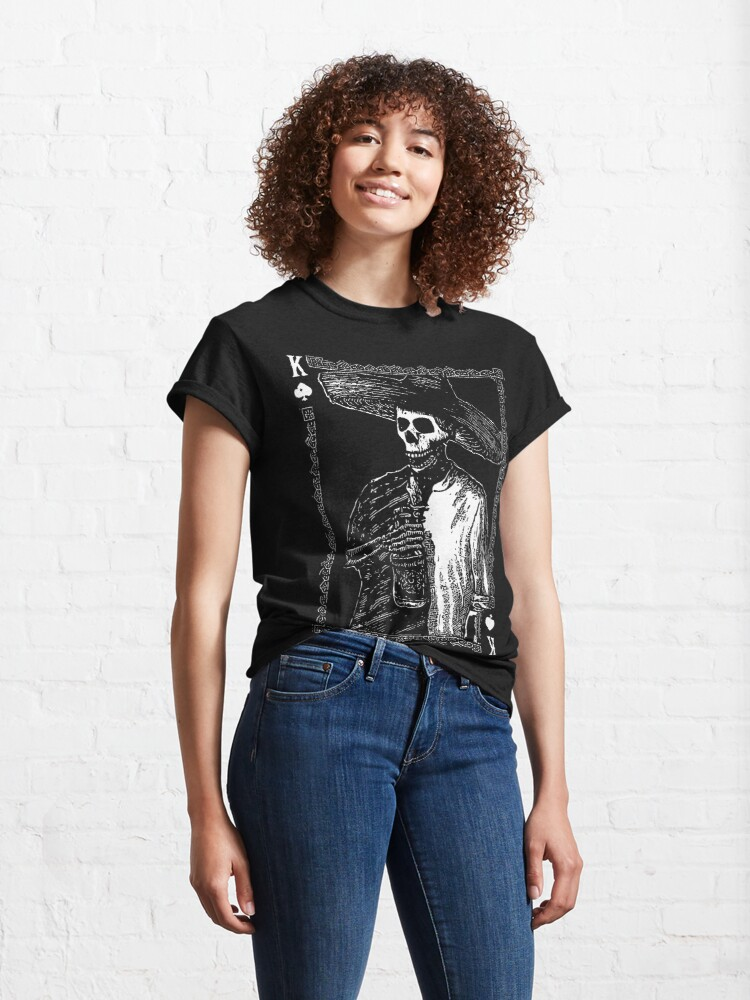 Alternate view of Day of the Dead - King of Spades Classic T-Shirt
