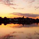 SUNSET ON SLIPPER POND, EMSWORTH, HAMPSHIRE. U.K. by LumixFZ28