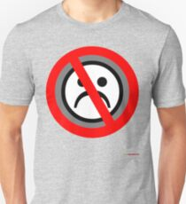 No Frowning Sign T-shirt Design T-Shirt