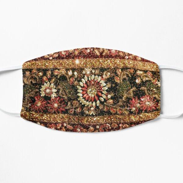 Rebordear indio sari foto Mascarilla plana