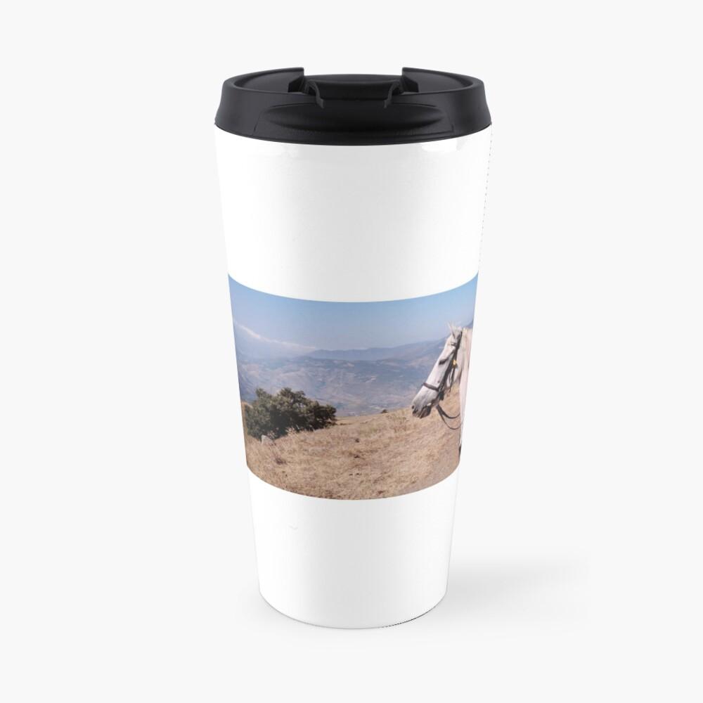 Pieper enjoying the Andalucian mountain view Travel Mug