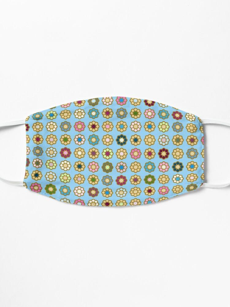 Masque ''Parterre de fleurs, fond bleu, hippie style': autre vue