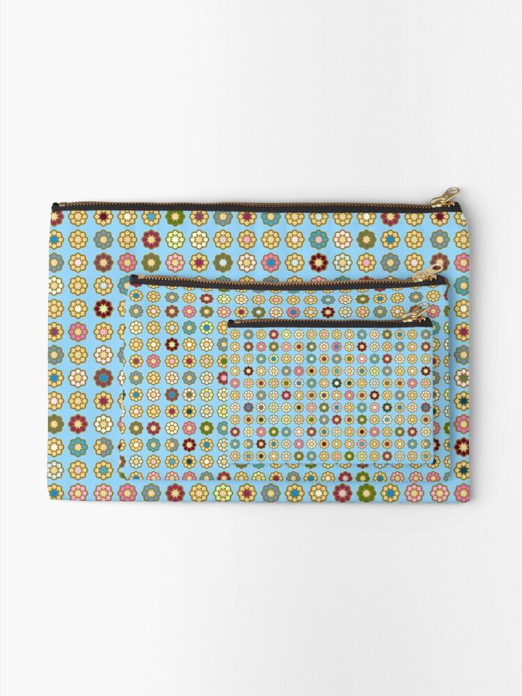 Pochette ''Parterre de fleurs, fond bleu, hippie style': autre vue