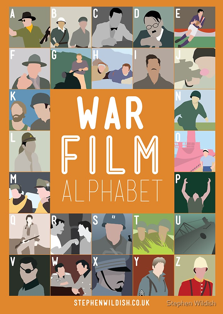 War Film Alphabet by Stephen Wildish