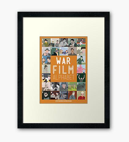 War Film Alphabet Framed Print