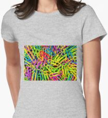 Paper Clips Womens Fitted T-Shirt