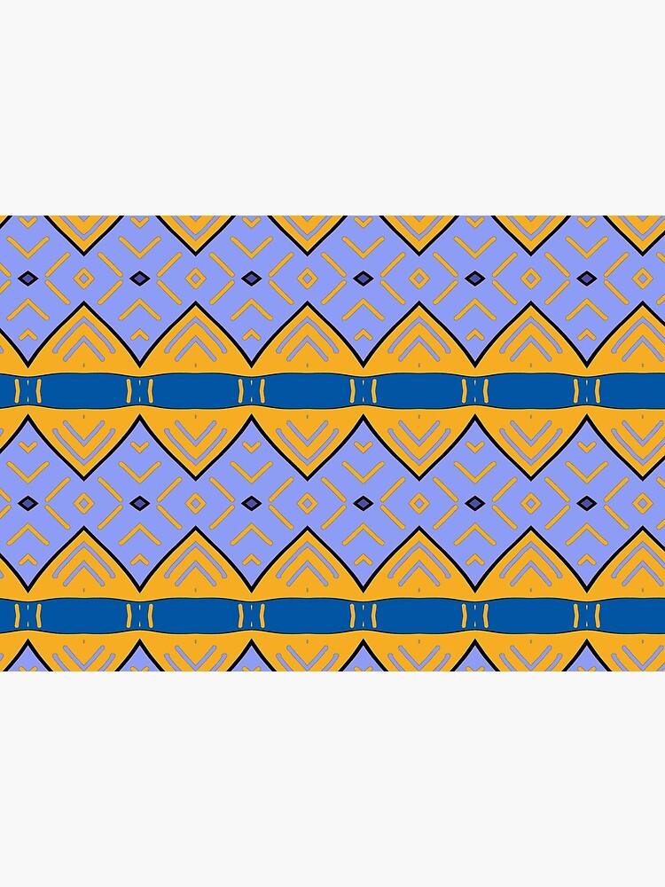 «Motif tribal, bleu  et jaune» par patricmouth