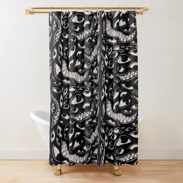 Monster mash - Goth Shower Curtain