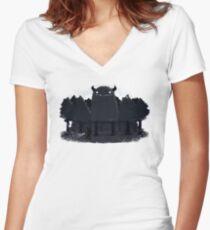 Monster Hunting Women's Fitted V-Neck T-Shirt
