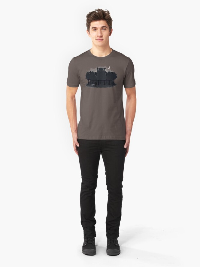 Alternate view of Monster Hunting Slim Fit T-Shirt