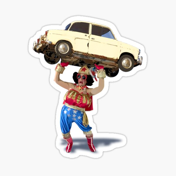 The Fabulous Wonder Mama Super Strength! Sticker
