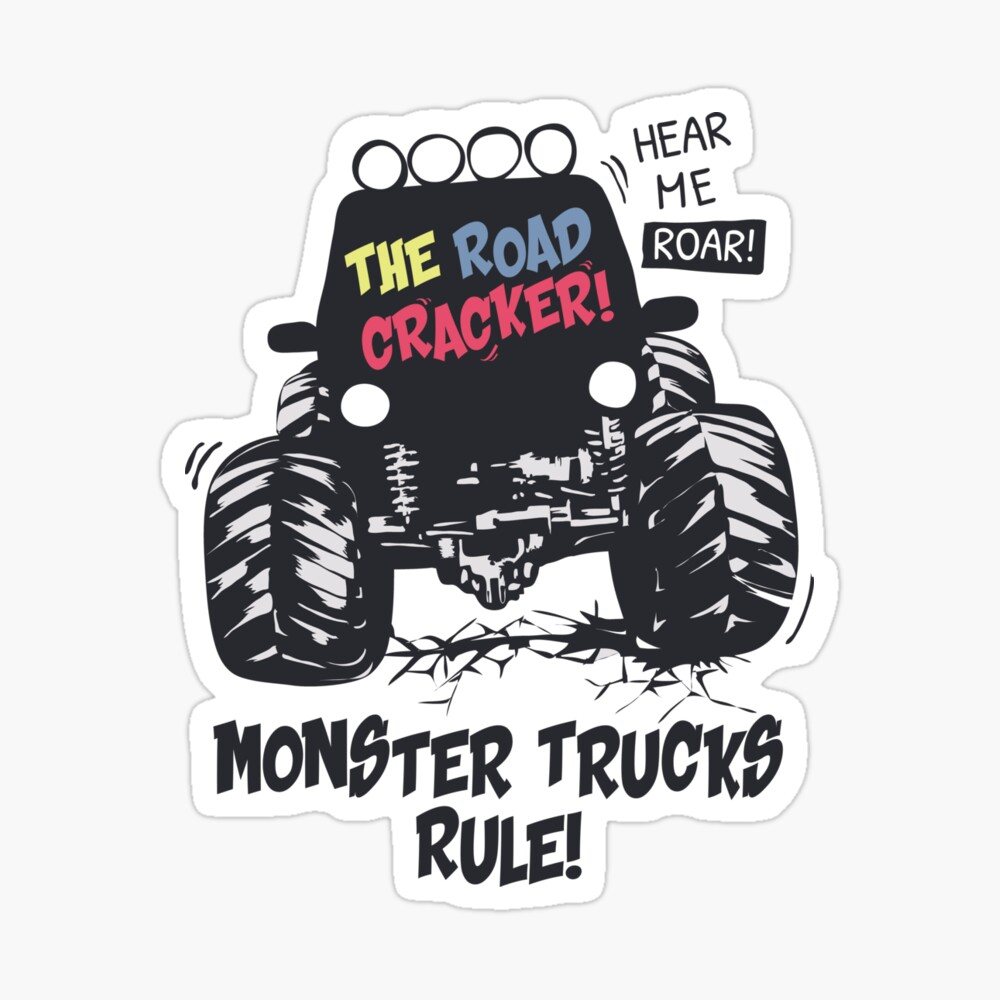 Monster Trucks Rule Canvas Print By Nearlyhere Redbubble
