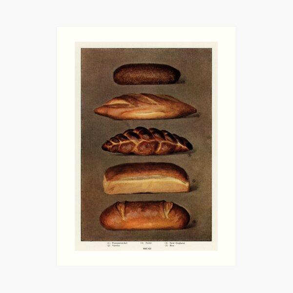 vintage bread poster A Art Print