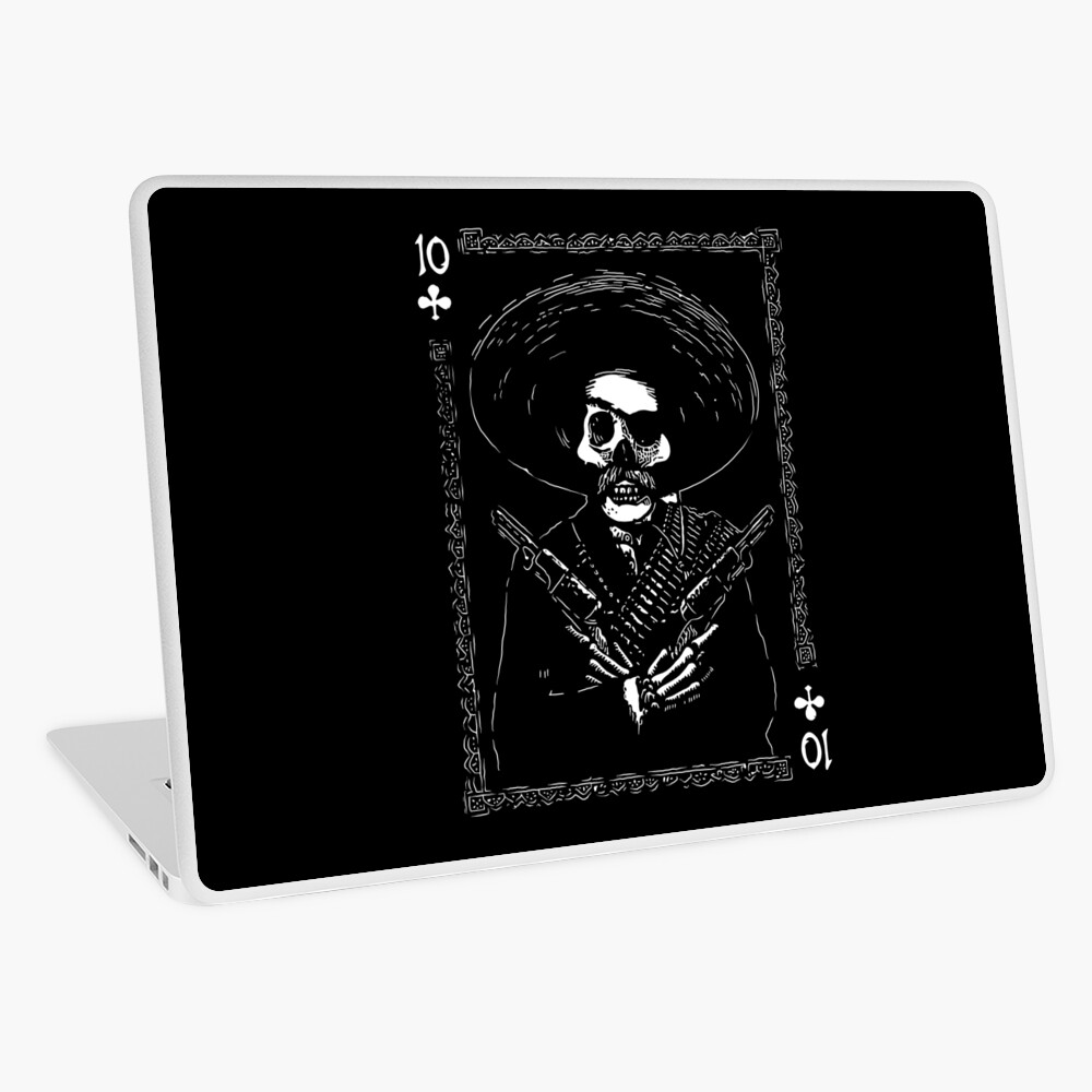 Day of the Dead - Ten of Clubs Laptop Skin