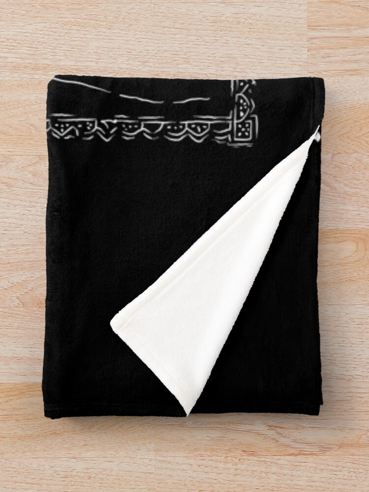 Alternate view of Day of the Dead - Ten of Clubs Throw Blanket