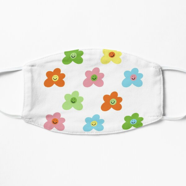 Golf le fleur inspired flower smiley pattern Flat Mask