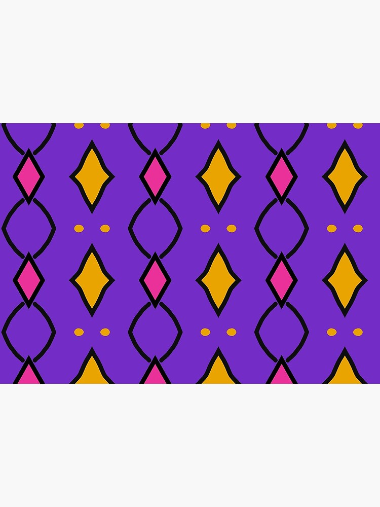 «Losanges jaunes et roses sur fond violet» par patricmouth