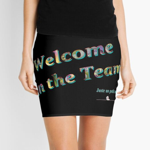 Welcome to the team. Mini Skirt