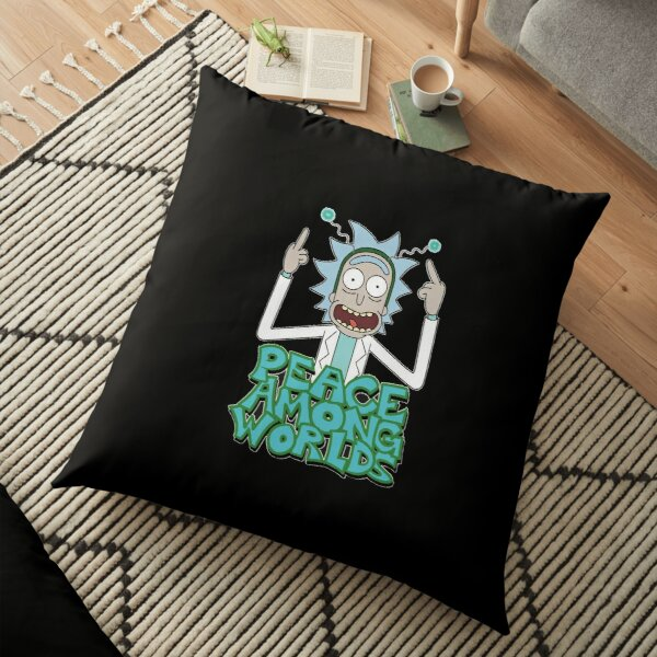"""Rick and Morty """"Peace Among Worlds"""" Floor Pillow"""