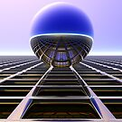Sphere Over Grid II by Hugh Fathers
