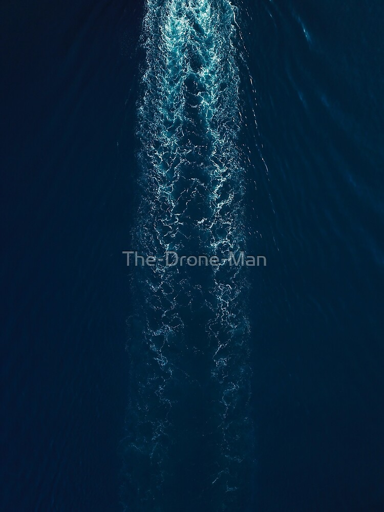 Wake Behind The Boat | Ocean Waves  by The-Drone-Man