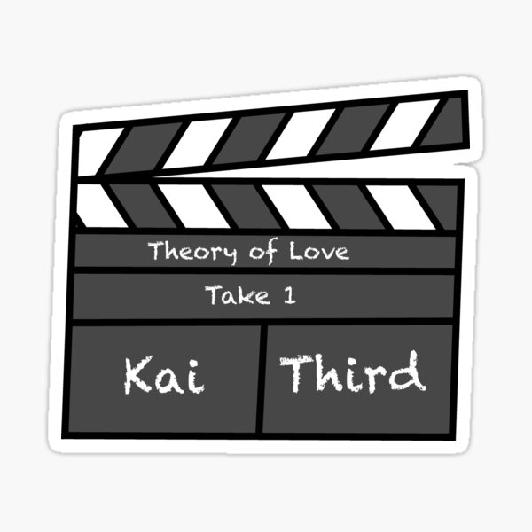 Theory of Love - clapperboard  Sticker