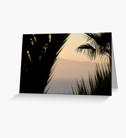 Abstract - Los Gigantes Greeting Card