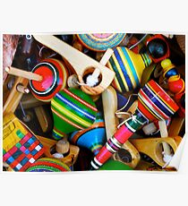 Wooden Toys for Sale Poster