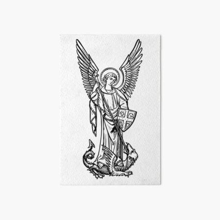 Archangel Michael Art Board Print