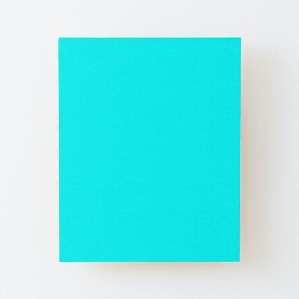 color aguamarina / cian Lámina montada de madera