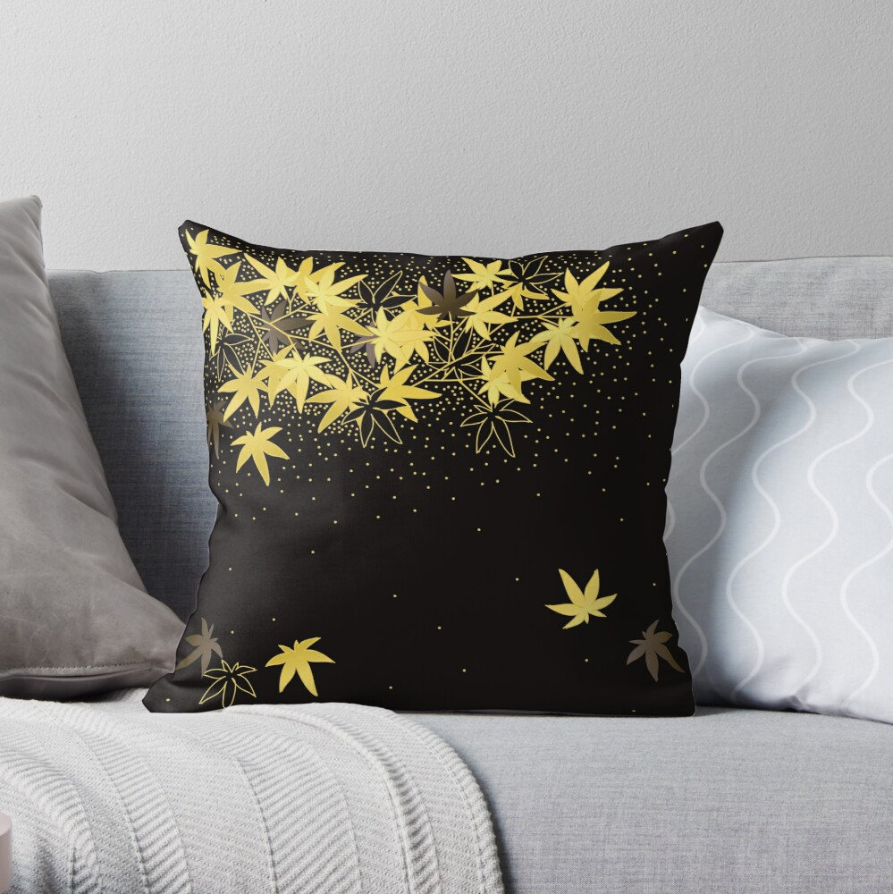 Makie-Style of maple  Throw Pillow