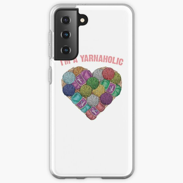 Copy of Yarnaholic yarn heart shape shirt Samsung Galaxy Soft Case