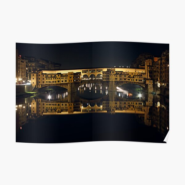 Ponte Vecchio by Night Poster