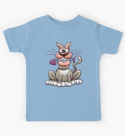 Cat Posing with a Fish Kids Clothes