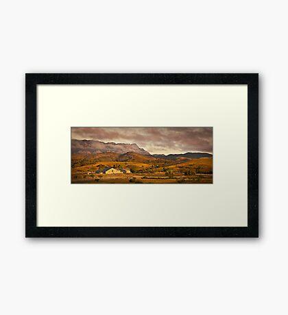 Arkaba Woolshed, Elder Range, South Australia Framed Print
