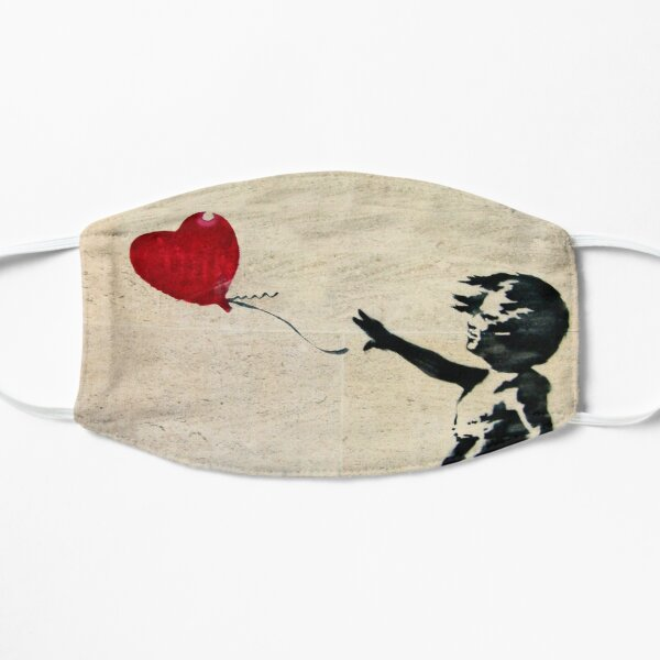 Banksy's Girl with a Red Balloon Flat Mask