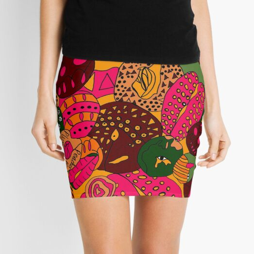 Peaches, Pears and Plums Mini Skirt