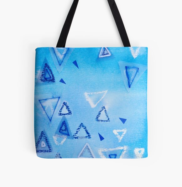 Triangles - Abstract Art Work With Stitching All Over Print Tote Bag