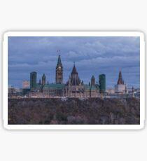 Canada's Parliament building at dusk Sticker