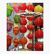 Chinese Lanterns, Ladies Market, Hong Kong Photographic Print