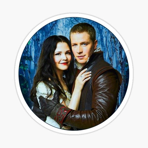 Snow and Charming Comic Poster Logoless Design 2 Sticker