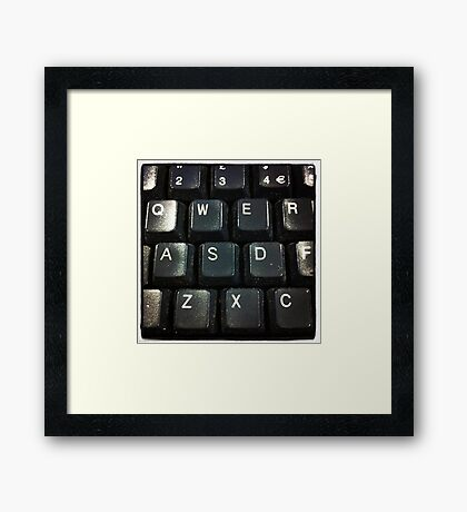 Qwerty Framed Print