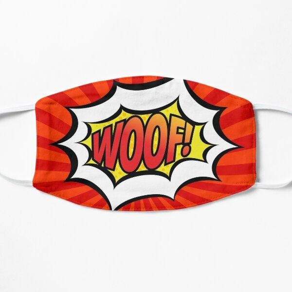 Red Pop Art Woof! Flat Mask