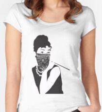 Gangster Audrey Hepburn   STICKER Women's Fitted Scoop T-Shirt
