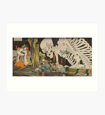 Japanese skeleton Art Print