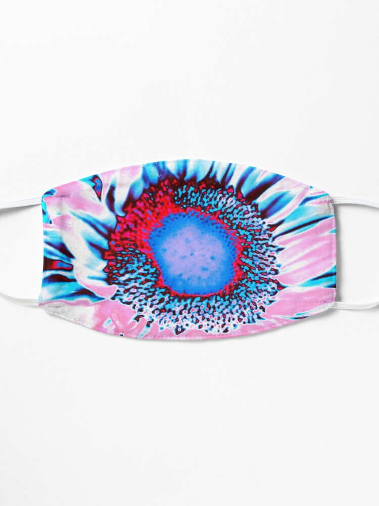 Alternate view of Iced Sunflower - Pink Purple White Blue Flower - Floral Design Mask