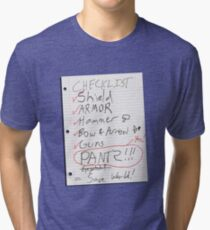 Alien Invasion Checklist Tri-blend T-Shirt